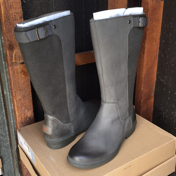 9c8a04499d5 ❤️New Ugg Janina Slate gray color tall boots Sz 10 NWT